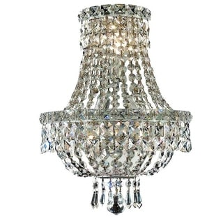 Somette Lavaux Royal Cut Crystal and Chrome 3-light Wall Sconce