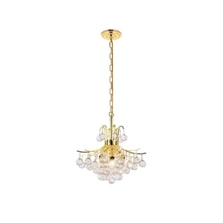 Somette Ticino 6-light Royal Cut Crystal and Gold Chandelier