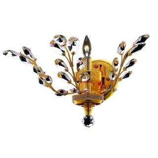 Somette Bern Royal Cut Crystal and Gold 1-light Wall Sconce
