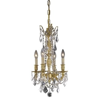 Somette 'Zurich' 4-light Royal Cut Crystal and French Gold Chandelier