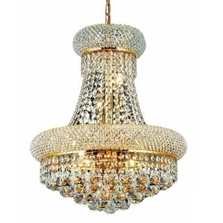 Somette Geneva 8-light Royal Cut Crystal and Gold Chandelier