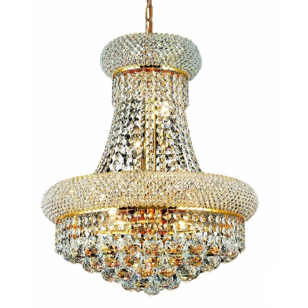 Somette Geneva 8-light Royal Cut Crystal and Gold Chandelier
