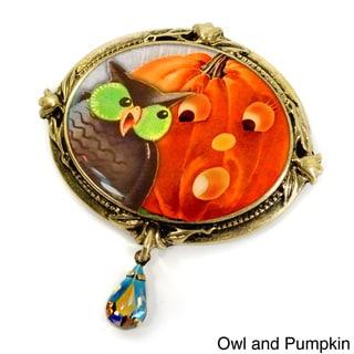 Sweet Romance Bat, Witch, Pumpkin, Black Cats Vintage Halloween Pins