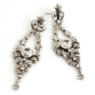 Sweet Romance Vintage French Crystal Victorian Wedding Earrings