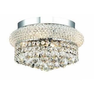 Somette Geneva 4-light Royal Cut Crystal and Chrome Flush Mount