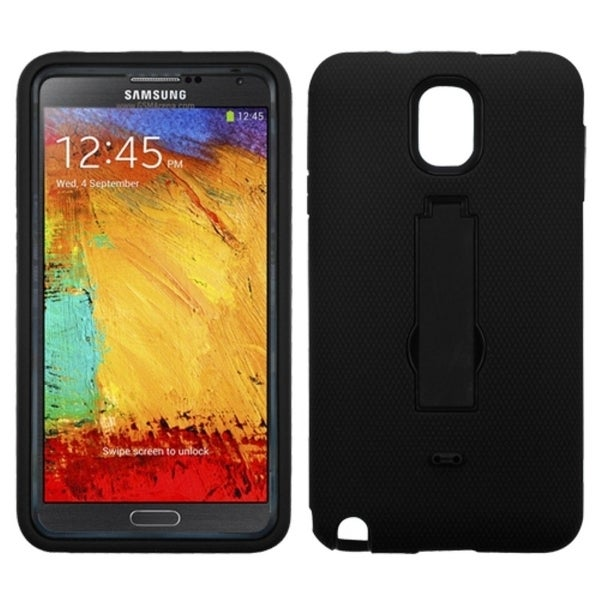 INSTEN Black/ Black Stand Phone Case Cover for Samsung N900V Galaxy Note 3