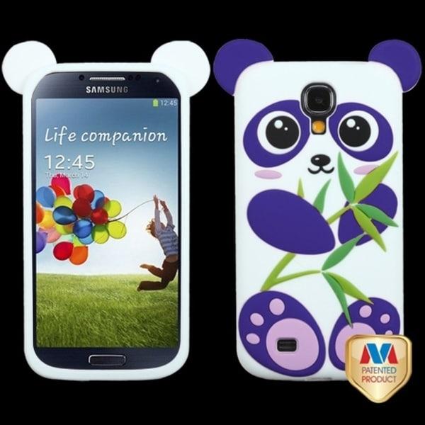 INSTEN Purple/ White Panda Pastel Skin Phone Case Cover for Samsung Galaxy S4 I337