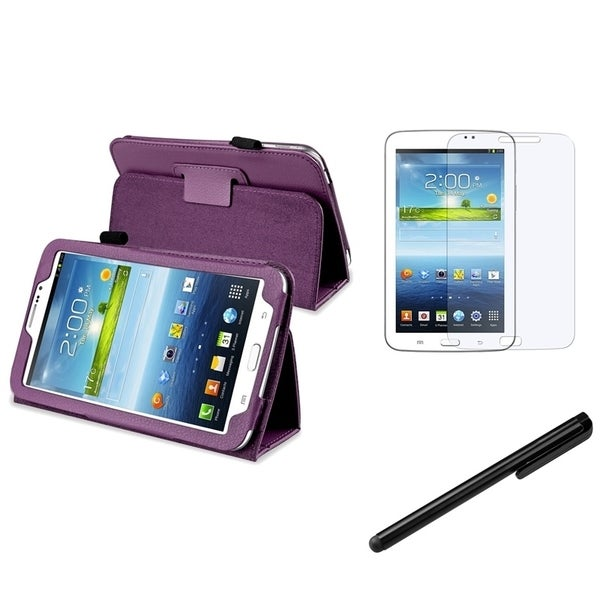 INSTEN Tablet Case Cover/ Stylus/ LCD Protector for Samsung Galaxy Tab 3 7.0 P3200