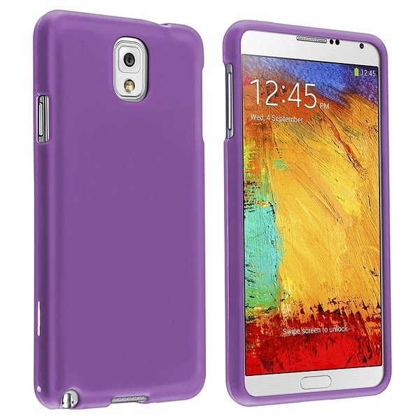BasAcc Purple Rubber Coated Case for Samsung© Galaxy Note III N9000