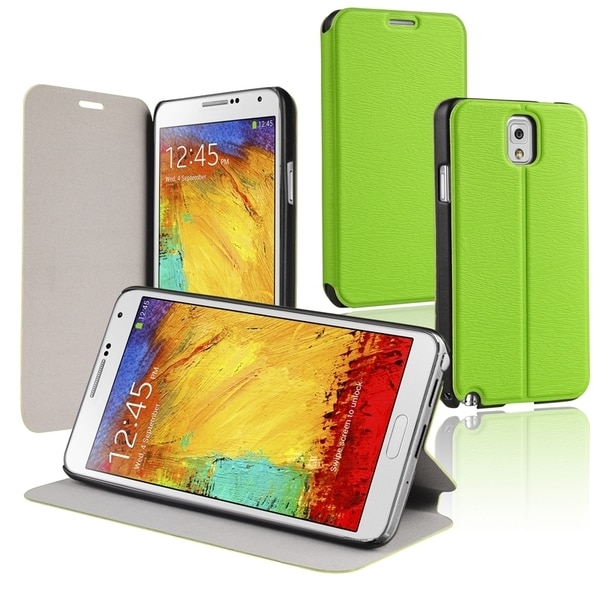 BasAcc Green Stand Leather Case for Samsung© Galaxy Note III N9000