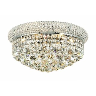 Somette Geneva 8-light Royal Cut Crystal and Chrome Flush Mount