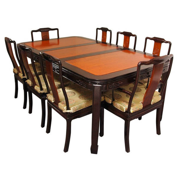Rosewood Dining Room Set: Shop Handmade Two-tone Rosewood Dining Room Set (China