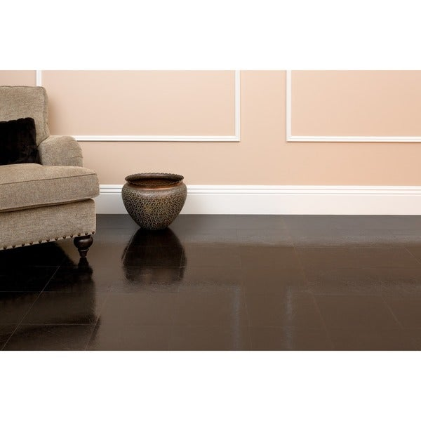 Shop Achim Nexus Black 12x12 Self Adhesive Vinyl Floor Tile 20