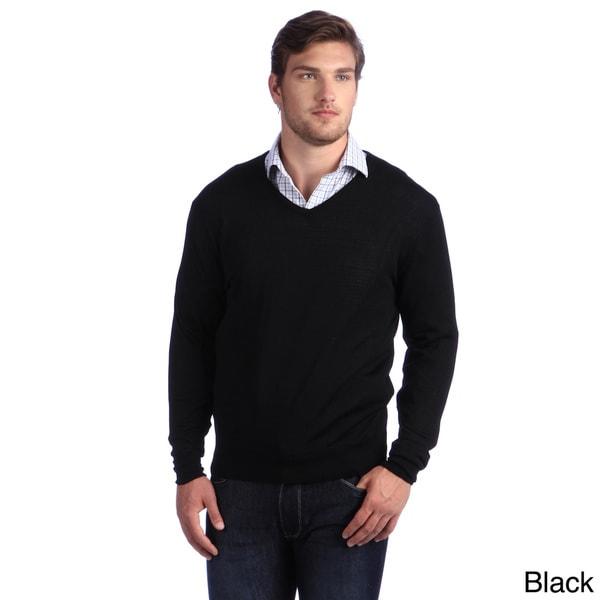 Luigi Baldo Italian Made Men/'s Fine Gauge Merino V-Neck Sweater Multiple Colors