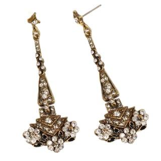 Sweet Romance Art Deco Tapering Triangle Gatsby Movie Earrings