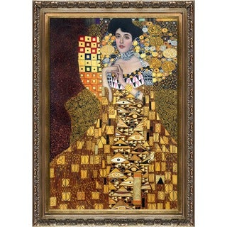 Gustav Klimt 'Portrait of Adele Bloch-Bauer' Hand Painted Framed Canvas Art