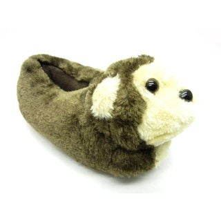 Blue Children's Monkey Plush Slippers
