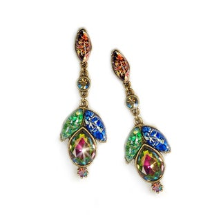 Sweet Romance Vintage Glass Bohemian Statement Earrings