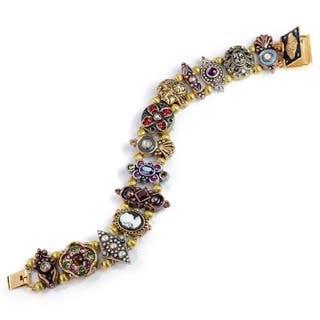 Sweet Romance Vintage Tri-color Victorian Charm Slide Bracelet|https://ak1.ostkcdn.com/images/products/8478389/P15767503.jpg?impolicy=medium