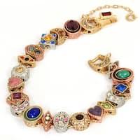 Sweet Romance Goldtone Demi Slide Bracelet