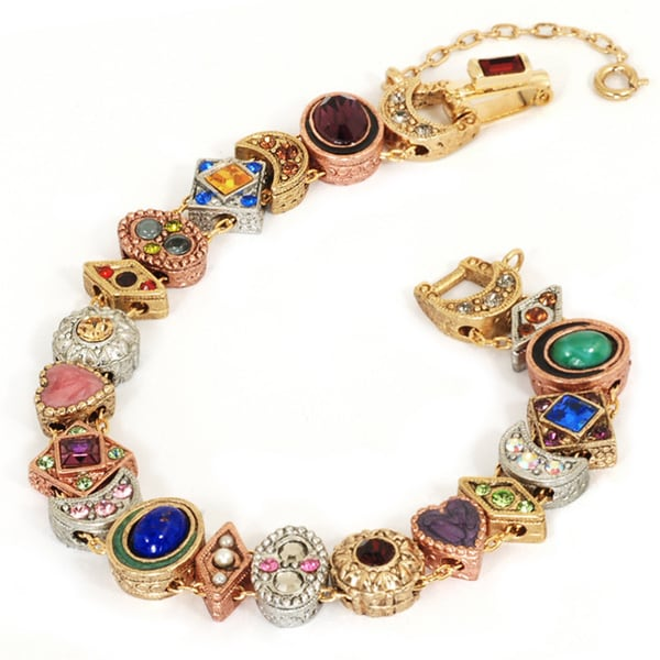 Antique Gold Charm Bracelet: Shop Sweet Romance Goldtone Demi Slide Bracelet