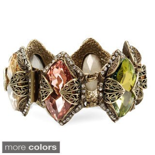 Sweet Romance Marquise Cut Crystal Hollywood Statement Bracelet