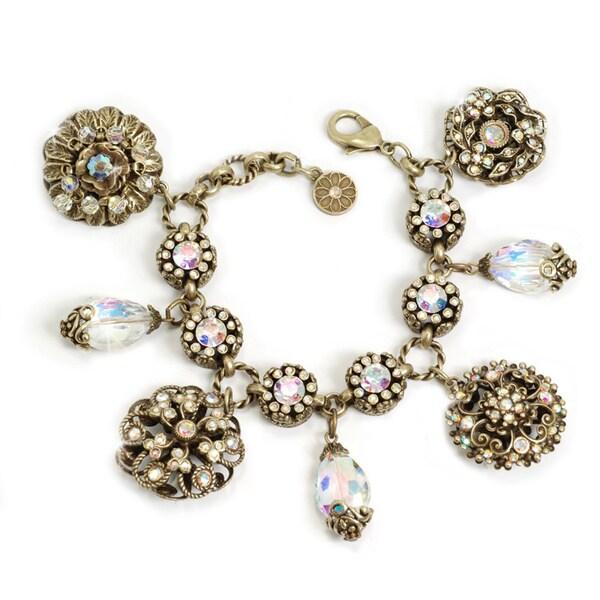 Sweet Romance Bronzetone Aurora Superlativo Charm Bracelet
