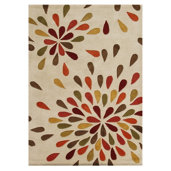 Alliyah Handmade Sand New Zealand Blend Wool Rug (8' x 10')