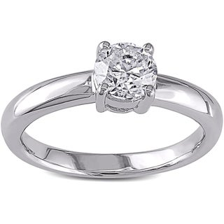 Miadora Signature Collection 14k White Gold 1ct TDW Certified Diamond Engagement Ring (