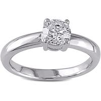 Miadora Signature Collection 14k White Gold 1ct TDW Certified Diamond Solitaire Engagement Ring