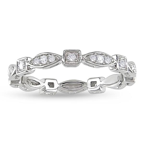 Miadora 14k White Gold 1/5ct TDW Fashion Diamond Ring (G-H, I1-I2)