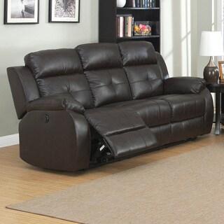 Troy Dual Power Reclining Sofa