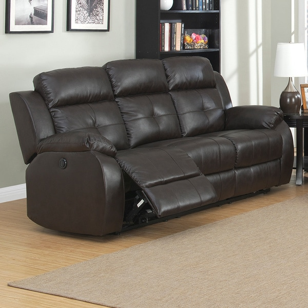 Shop Troy Dual Power Reclining Sofa On Sale Free Shipping Today
