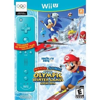 WII U - Mario & Sonic Sochi 2014 Olympic Winter Games with Blue Wii Remote Plus