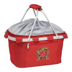 Picnic Time Metro Basket Maryland Terrapins Print Red
