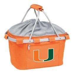 Picnic Time Metro Basket Miami Hurricanes Print Orange
