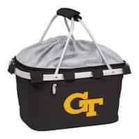 Picnic Time Metro Basket Georgia Tech Yellow Jackets Print Black