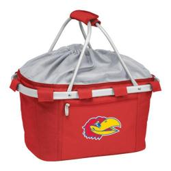 Picnic Time Metro Basket Kansas Jayhawks Embroidered Red