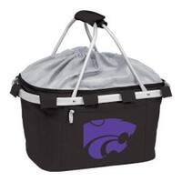 Picnic Time Metro Basket Kansas State Wildcats Print Black