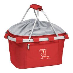 Picnic Time Metro Basket Louisville Cardinals Embroidered Red