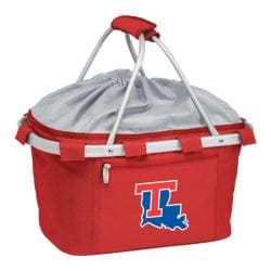 Picnic Time Metro Basket Lousiana Tech Bulldogs Embroidered Red