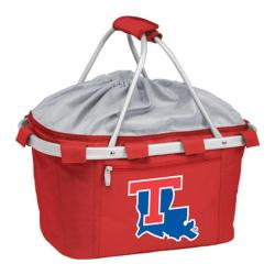 Picnic Time Metro Basket Lousiana Tech Bulldogs Print Red
