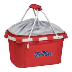 Picnic Time Metro Basket Mississippi Rebels Embroidered Red