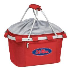 Picnic Time Metro Basket Mississippi Rebels Print Red
