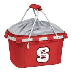 Picnic Time Metro Basket NC State University Wolfpack Print Red