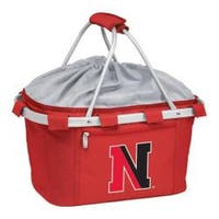 Picnic Time Metro Basket Northeastern University Huskies Print Red