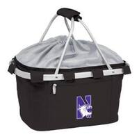Picnic Time Metro Basket Northwestern University Wildcats Emb Black