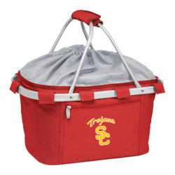Picnic Time Metro Basket USC Trojans Print Red