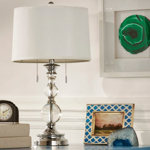 Quinn Crystal Mercury Base 2-light Accent Table Lamp by iNSPIRE Q Bold