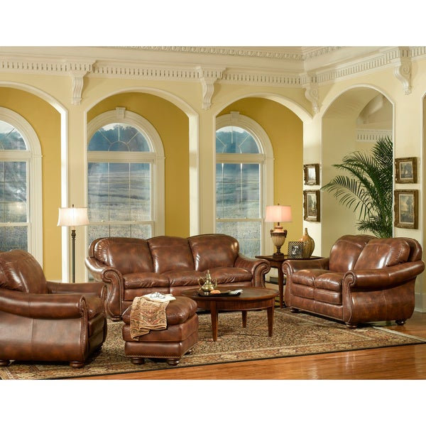 Cheap Furniture Stores Online Free Shipping: Shop Marshall 4-piece Leather Sofa Set